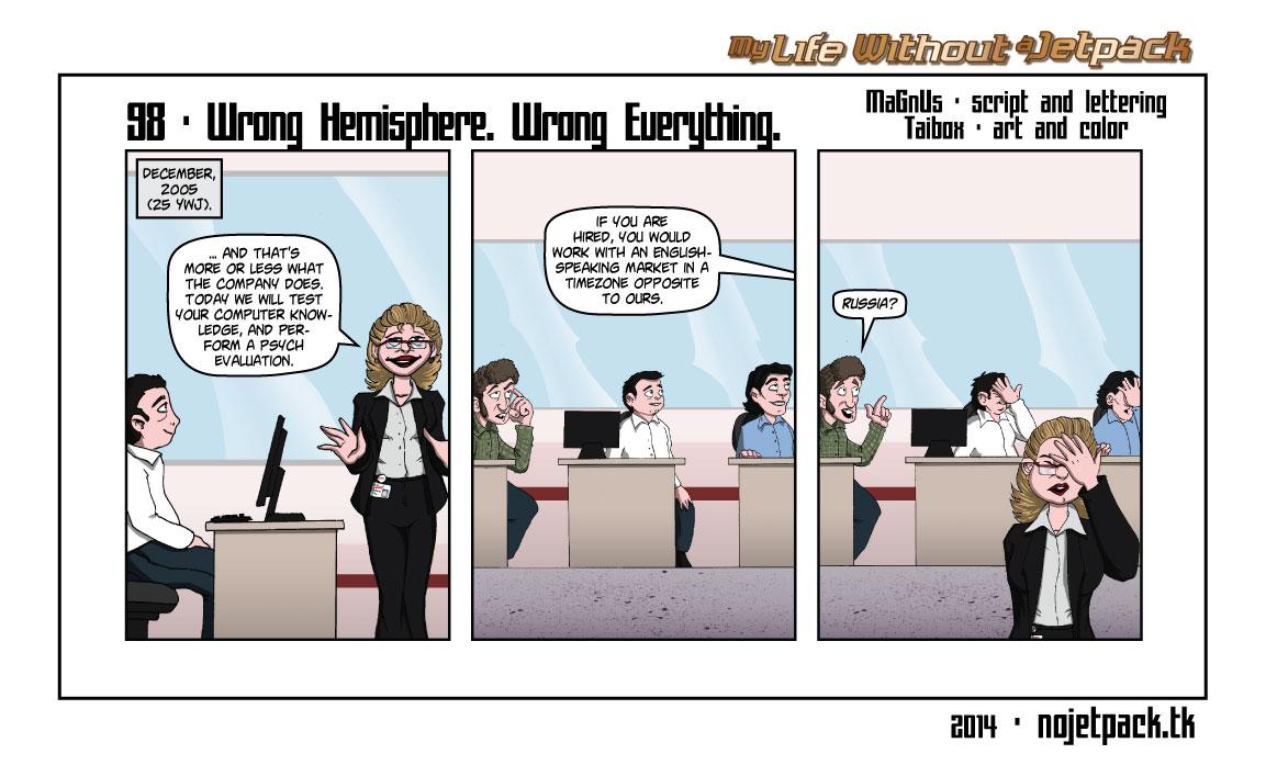 98 - Wrong Hemisphere. Wrong Everything.
